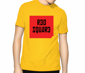 Red Square T Shirt - Sunflower