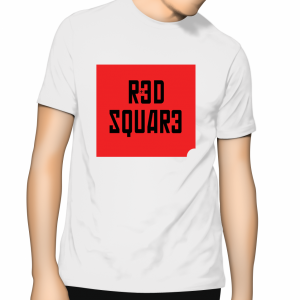 Red Square T Shirt - White
