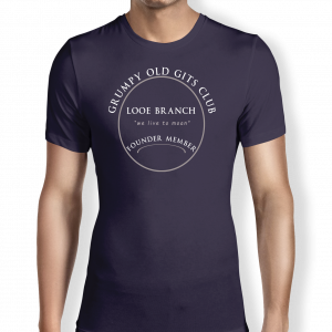 Grumpy of Looe - Navy T shirt